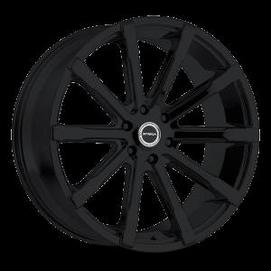 24x10 Strada Wheels Osso 5x139.7 40 ET 78.1 hub - All Gloss Black