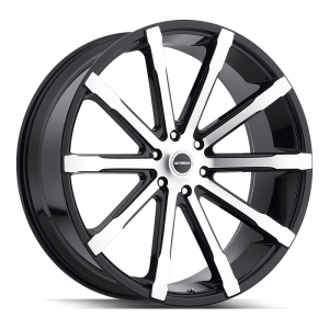 24x10 Strada Wheels Osso 5x115 24 ET 72.6 hub - Gloss Black Machined