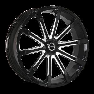 24x10 Strada Wheels Osso 5x115 24 ET 72.6 hub - Gloss Black Milled