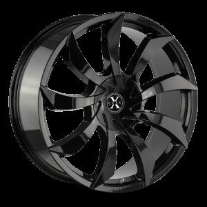 22x9 Xcess Wheels X01 5x114.3 35 ET 72.6 hub - All Gloss Black