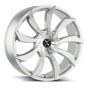 22x9 Xcess Wheels X01 5x108 35 ET 72.6 hub - Brushed Face Silver