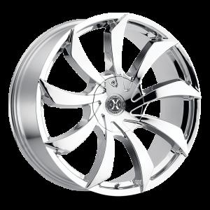 22x9 Xcess Wheels X01 5x108 35 ET 72.6 hub - Chrome
