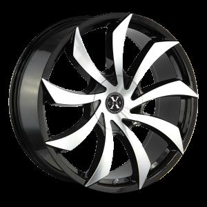 22x9 Xcess Wheels X01 5x108 35 ET 72.6 hub - Gloss Black Machined