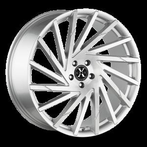 20x8.5 Xcess Wheels X02 5x114.3 35 ET 72.6 hub - Brushed Face Silver