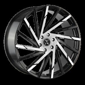 20x8.5 Xcess Wheels X02 5x114.3 35 ET 72.6 hub - Gloss Black Machined