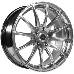 18x7.5 Advanti Racing Wheels 85H Svelto 5x100 +45 Offset 73.00 Hub Titanium