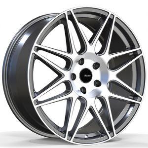 18x8 Advanti Racing Wheels 88MS Classe 5x100 +35 Offset 73.00 Hub Silver
