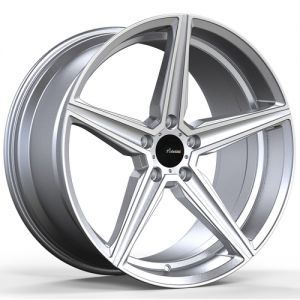 18x8 Advanti Racing Wheels 87MS Cammino 5x100 +35 Offset 73.00 Hub Silver