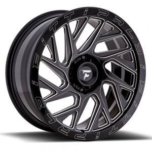 20x9 Fittipaldi Offroad Wheels FTF01 X-Trail 5x5 +06 Offset 71.5 Hub Black Milled