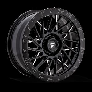 20x9 Fittipaldi Offroad Wheels FTF03 X-Trail 5x5 +06 Offset 71.5 Hub Black Milled