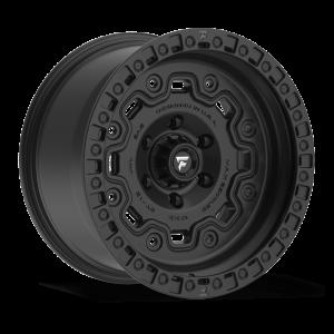 17x9 Fittipaldi Offroad Wheels FTC16SB 5x5 -12 Offset 71.5 Hub Satin Black
