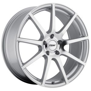 17x9 TSW Interlagos Silver w/ Mirror Face (Rotary Forged)