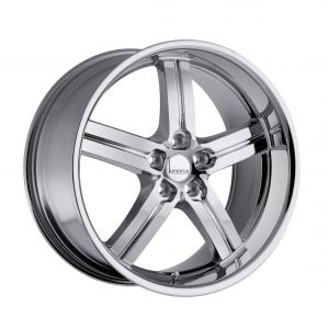 17x8 Lumarai Morro GLOSS BLACK W/MIRROR LIP