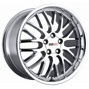 - Staggered full Set -(2) 17x9 Cray Manta Chrome(2) 18x10.5 Cray Manta Chrome