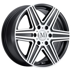 18x8 Mandrus Atlas 6 Gunmetal w/ Mirror Cut Face