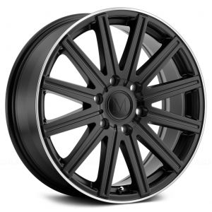 16x7 Mandrus Stark Matte Black w/ Machined Lip