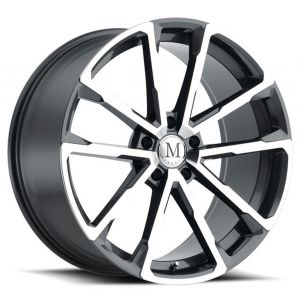 22x10.5 Mandrus Wolf Gloss Gunmetal w/ Mirror Cut Face