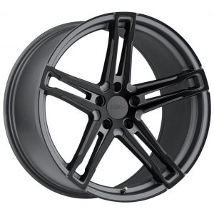 18x8 TSW Mechanica Matte Gunmetal w/ Matte Black Face