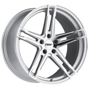 18x8.5 TSW Mechanica Silver w/ Mirror Cut Face