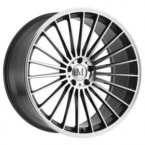 17x8 Mandrus 23 GUNMETAL W/MIRROR CUT FACE