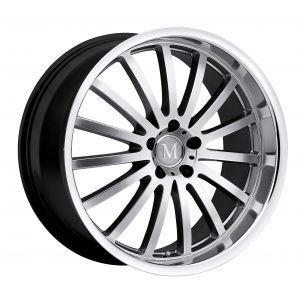 17x8 Mandrus Millennium GLOSS BLACK W/MIRROR CUT LIP