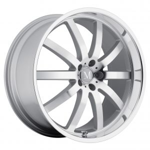 17x8 Mandrus Wilhelm GLOSS BLACK W/MIRROR CUT LIP