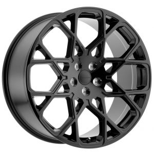 20x9.5 Redbourne Meridian Gloss Black