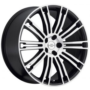 20x9.5 Redbourne Manor Matte Black w/ Machined Face