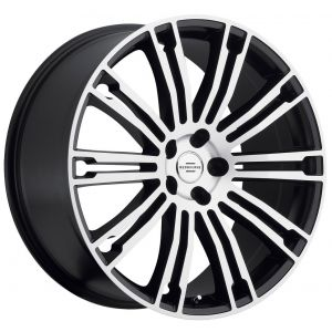 22x9.5 Redbourne Manor Matte Black w/ Machined Face