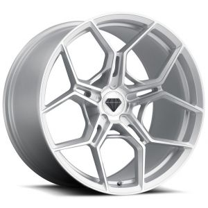 20x9 Blaque Diamond BD-F25 Brushed Silver