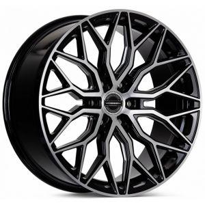 n4sm-vossen wheels hf6-3 wheel gloss black brushed face