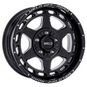 20x10 Weld Off-road Argon W123 Gloss Black Milled
