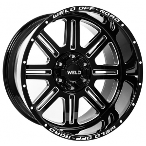20x9 Weld Off-road Chasm W103 Gloss Black Milled