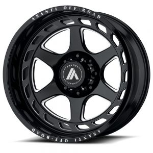 22x12 Asanti Offroad AB816 Anvil Gloss Black W/ Machined Spokes