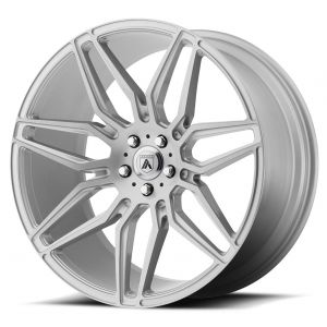Staggered full Set - (2) 20x8.5 Asanti ABL-11 Brushed Silver (2) 20x10.5 Asanti ABL-11 Brushed Silver