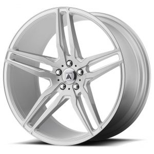 Staggered full Set - (2) 19x8.5 Asanti ABL-12 Brushed Silver (2) 19x9.5 Asanti ABL-12 Brushed Silver