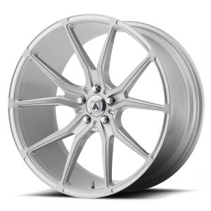 Staggered full Set - (2) 20x8.5 Asanti ABL-13 Brushed Silver (2) 20x10.5 Asanti ABL-13 Brushed Silver