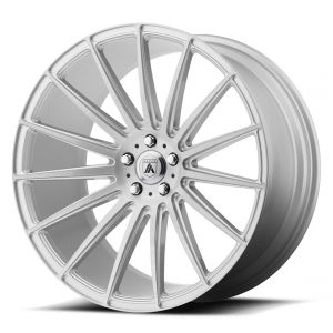 Staggered full Set - (2) 20x8.5 Asanti ABL-14 Brushed Silver (2) 20x10.5 Asanti ABL-14 Brushed Silver