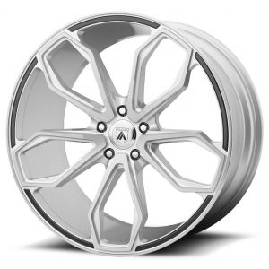 Staggered full Set - (2) 20x8.5 Asanti ABL-19 Brushed Silver (2) 20x10 Asanti ABL-19 Brushed Silver