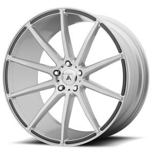Staggered full Set - (2) 20x8.5 Asanti ABL-20 Brushed Silver (2) 20x10 Asanti ABL-20 Brushed Silver