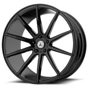 Staggered full Set - (2) 20x8.5 Asanti ABL-20 Gloss Black (2) 20x10 Asanti ABL-20 Gloss Black