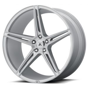 Staggered full Set - (2) 20x8.5 Asanti ABL-22 Brushed Silver (2) 20x10.5 Asanti ABL-22 Brushed Silver