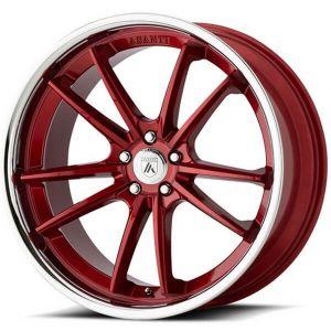 22x10.5 Asanti ABL-23 Candy Red w/ Chrome Lip