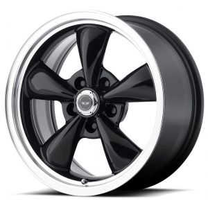 17x8 American Racing AR105 Torq Thrust M Gloss Black w/ Machined Lip