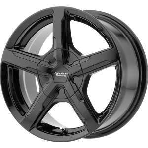 Staggered full Set - (2) 17x7 American Racing AR921 Trigger Gloss Black (2) 17x8 American Racing AR921 Trigger Gloss Black