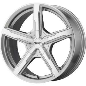 Staggered full Set - (2) 17x7 American Racing AR921 Trigger Silver Machined (2) 17x8 American Racing AR921 Trigger Silver Machined