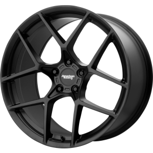 Staggered full Set - (2) 20x9 American Racing AR924 Crossfire Satin Black (2) 20x10 American Racing AR924 Crossfire Satin Black