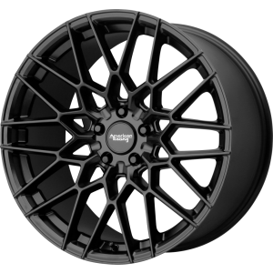 Staggered full Set - (2) 20x9 American Racing AR927 Barrage Satin Black (2) 20x10.5 American Racing AR927 Barrage Satin Black