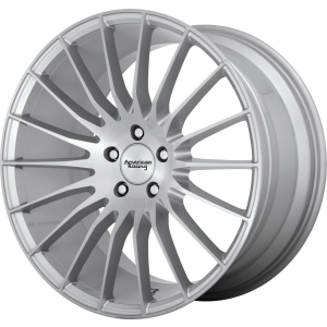 Staggered full Set - (2) 20x8.5 American Racing AR934 Fastlane Brushed Silver (2) 20x10 American Racing AR934 Fastlane Brushed Silver