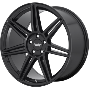 Staggered full Set - (2) 20x8.5 American Racing AR935 Redline Gloss Black (2) 20x10 American Racing AR935 Redline Gloss Black
